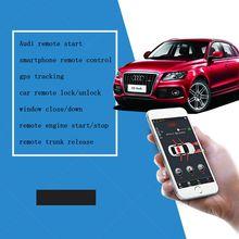Купить с кэшбэком PLUSOBD Car Alarm System Keyless Entry Engine Start Stop With Push Button Start Smartphone App Remote Control For AUDI Q7 08-14