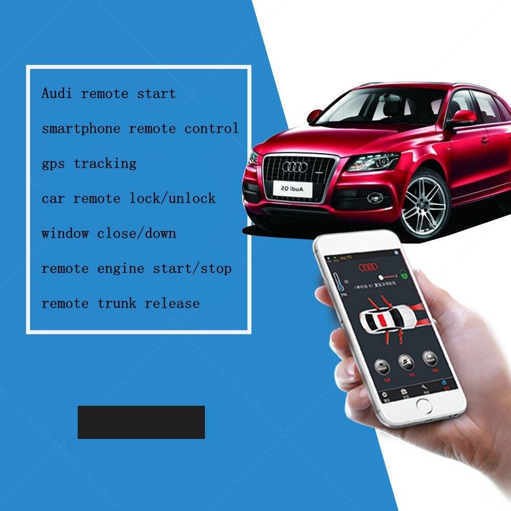PLUSOBD système d'alarme de voiture sans clé entrée moteur démarrage arrêt avec bouton poussoir démarrage Smartphone App télécommande pour AUDI Q7 08-14