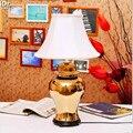 Керамическая лампа для спальни  прикроватная лампа  Классическая  с золотыми кристаллами  банок  по  установленная  den  настольные лампы  ...