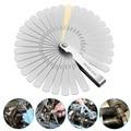 Feeler Gauge Set 32 Pcs in 1 Stainless Steel Foldable Feeler Gauges Measuring Tool --M25
