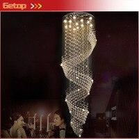 Modern Luxurious LED Clear K9 Rain Drop Crystal Chandelier For Hallway Corridor Stairs D60cm/D80cm/D100cm Free Shipping
