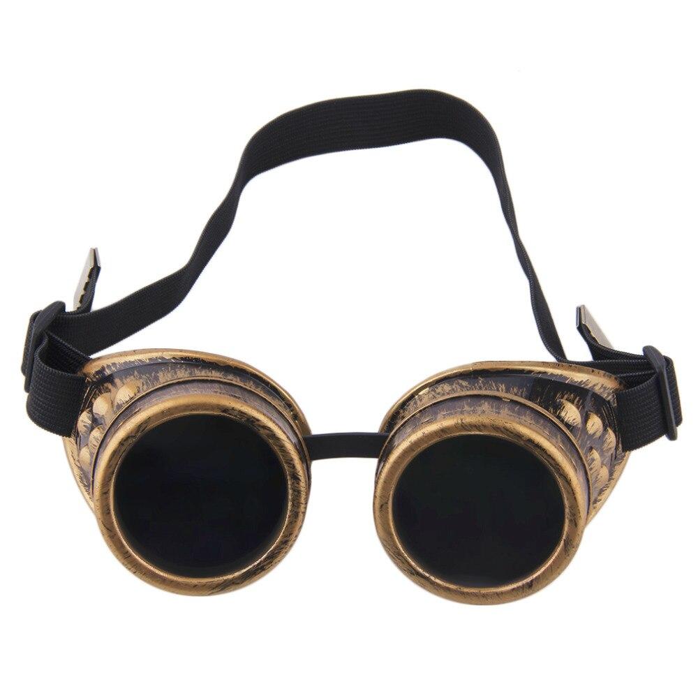 2019 Fashion Retro Steampunk Cyber Goggles Glasses Cyber Goggles Steampunk Glasses Vintage Retro Welding Punk Gothic Sunglasses(China)