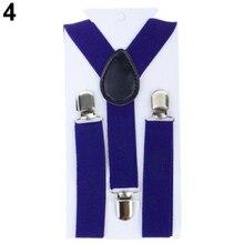 Bluelans/милые детские регулируемые подтяжки на завязках для мальчиков и девочек; эластичные детские подтяжки на спине