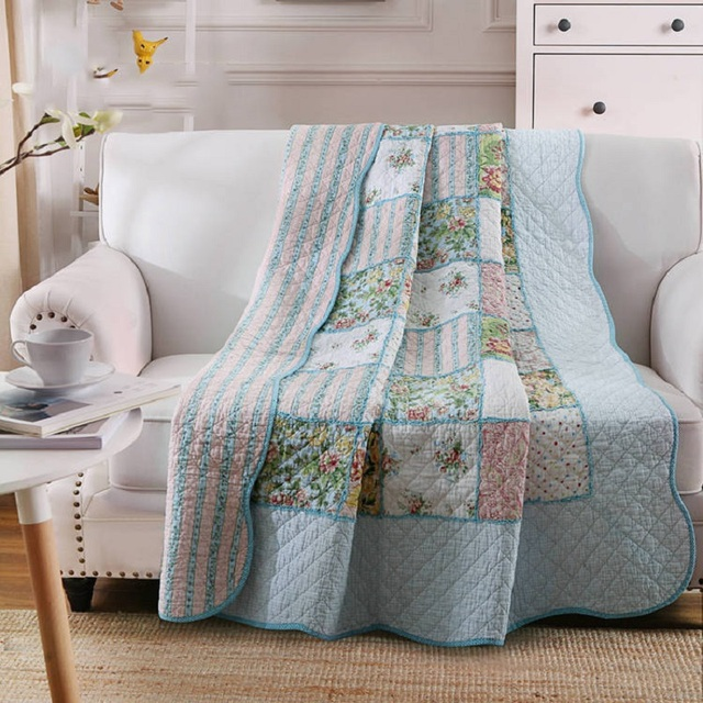 Chausub Summer Coverlets 100 Cotton Patchwork Quilt 1pc Twin Size