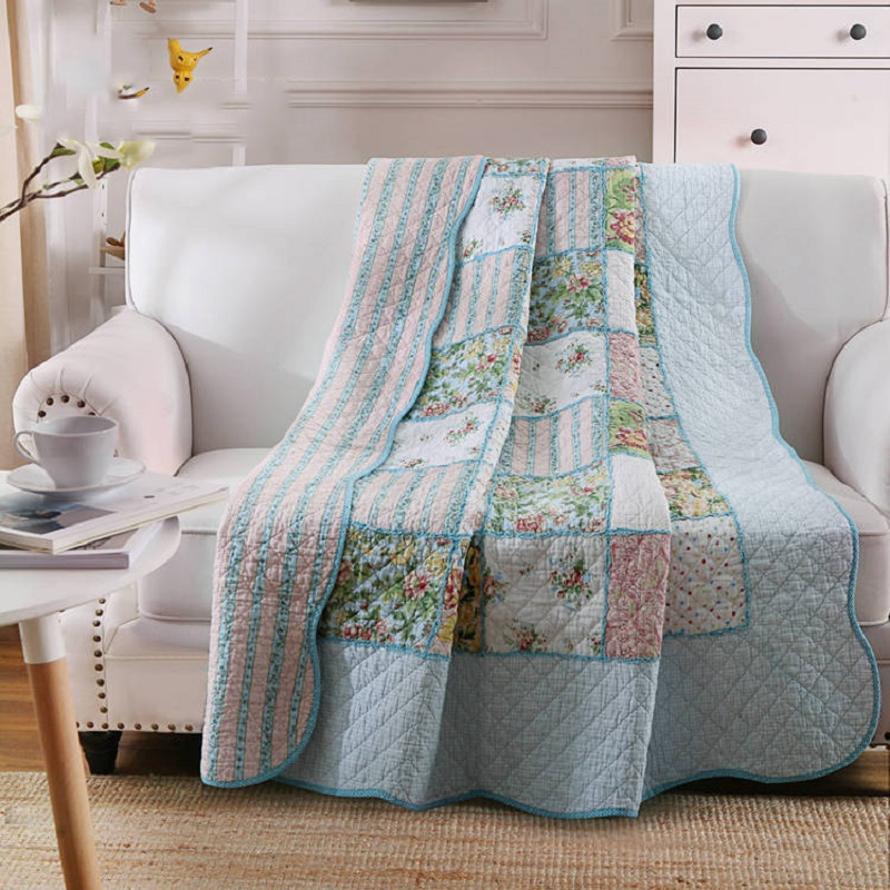 chausub summer coverlets 100 cotton patchwork quilt 1pc twin size student quilts sofa blanket bed - Twin Quilts