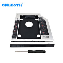 Free Shipping Universal Second 2.5 HDD Caddy 9.5mm SATA To SATA  Hard Drive Adapter For Laptop CD DVD Optical Drive Bay optical drive bay 2 5 inch to 3 5 inch sata hard disk internal enclosure optical drive bay mobile rack bay station