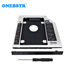 Image 1 - 2.5 HDD/SSD Caddy 9.5mm Universal Second SATA To SATA  Hard Drive Adapter For Laptop CD DVD Optical Drive Bay Free Shipping