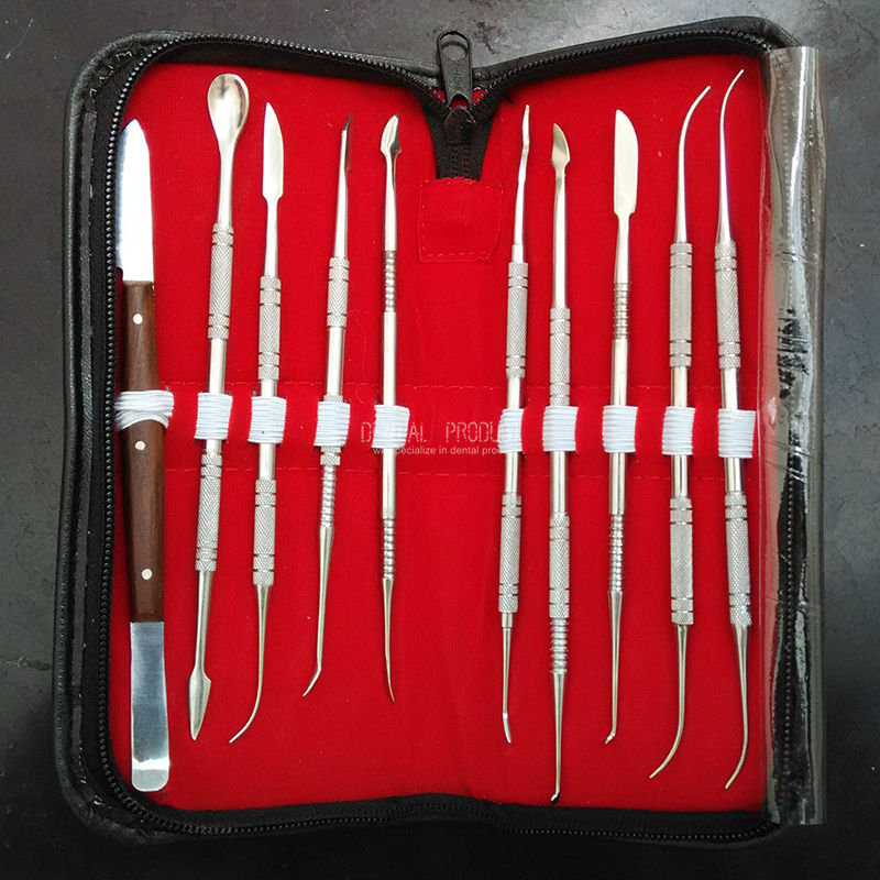 Dental lab equipment wax carving tools set surgical