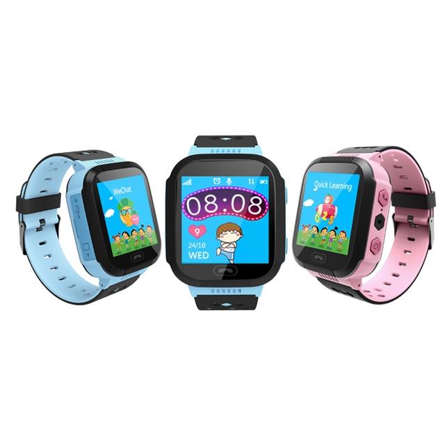 c719bdee7b4 Nova Q528 Kids GPS Rastreador Relógio Crianças Relógio Inteligente com Luz  do Flash 1.44