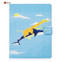 MDFUNDAS Cute Painting Tablet Case For Apple iPad 2 iPad 4 Convinient Flip Stand Protective Cover For iPad 2 / 4