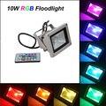 10 W Seguridad Impermeable Al Aire Libre Luz de Inundación del LED Proyector de Alta Potencia RGB de Cambio de Color (16 Colores) con Mando A Distancia Control de AC85V-265V