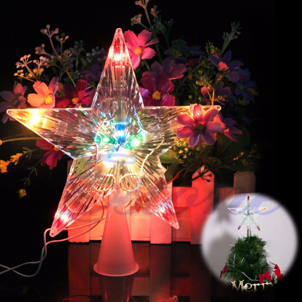 color changing xmas christmas tree topper star light party led lamp decoration dropshipping