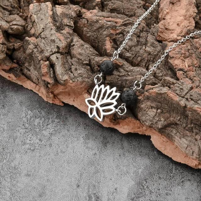chicvie ювелирные изделия йога лотос цветок ожерелье буддизм фотография