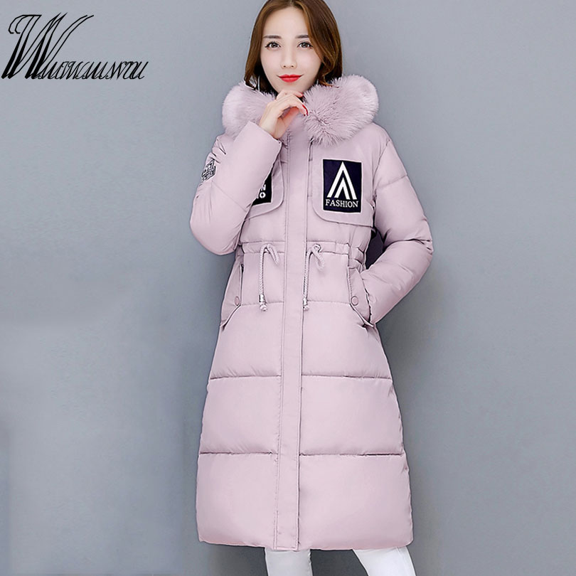 Wmwmnu Womens Winter Jackets And Coats Limited Winter Jacket Women 2017 Ultra Light Hooded Warm Coat Large Collar Wadded Female