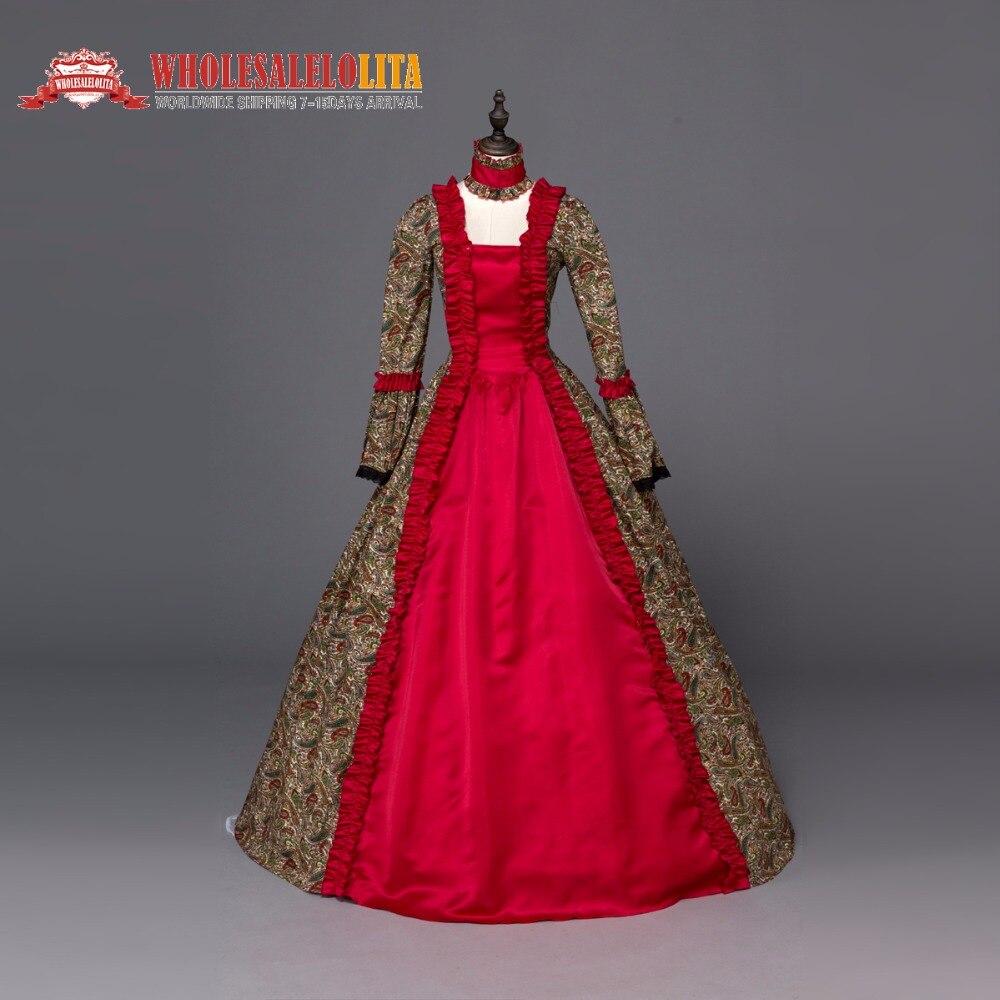 1d2dd5d3d Renacimiento de Georgia Brocado Gótico Vestido de Ropa de Baile de  disfraces Vestido de Teatro en Vestidos de La ropa de las mujeres en  AliExpress.com ...