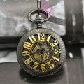 Купон цена хорошее качество новый 12 арабский количество человек старинные антикварные классический черный подарок механические карманные часы час с цепью