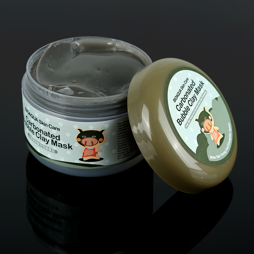 100g Oxygen Bubbles Carbonate Mud Mask Deep Clean Whitening Remove Blackhead Hydrating For Women Face Skin Care TSLM2