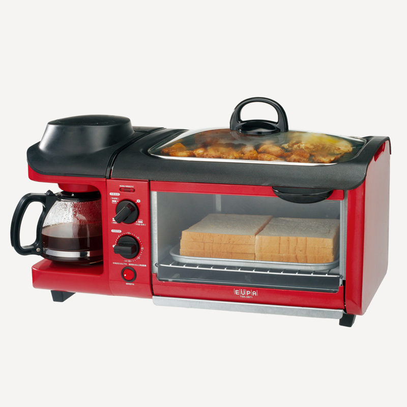 220V Multifunctionele 3 In1 Ontbijt Broodrooster Oven Elektrische Koekenpan Koffiezetapparaat Teppanyaki Maker-in 3-in-1 Ontbijtmakers van Huishoudelijk Apparatuur op  Groep 1