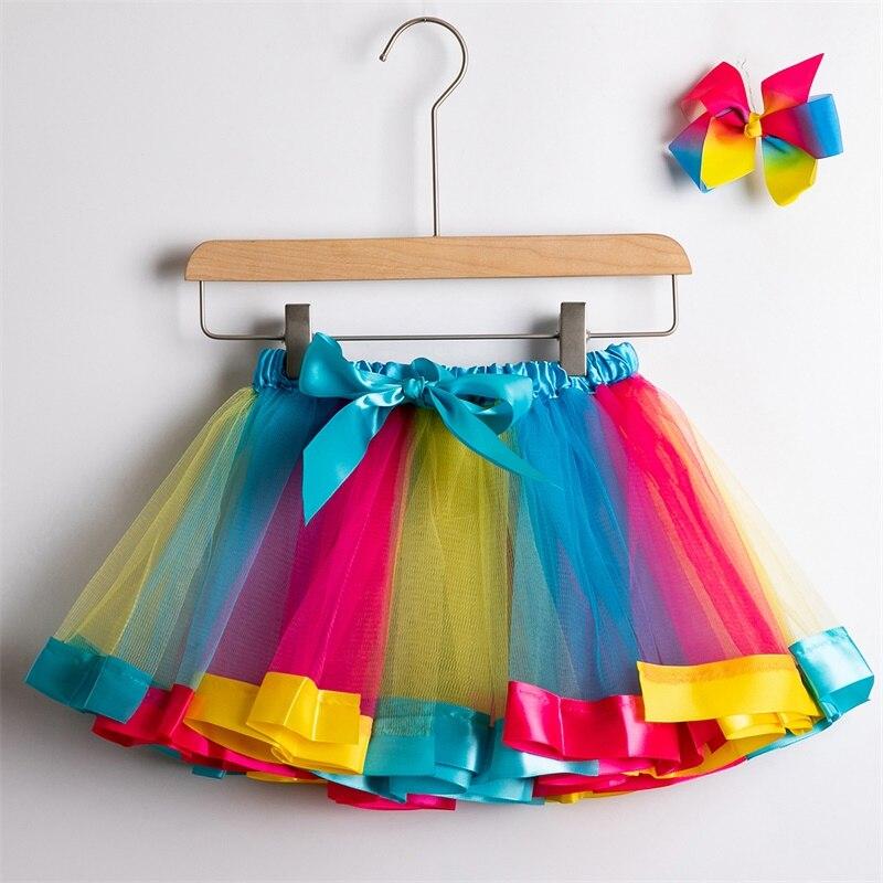 Юбка-пачка; юбки для маленьких девочек от 1 до 8 лет; юбка-американка принцессы; фатиновые юбки радужной расцветки для вечеринок и танцев; Одежда для девочек; одежда для детей - Цвет: 5