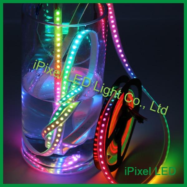 Good price rgb led ribbon waterproof,5v ws2812b led tape light,144 pixel led strip