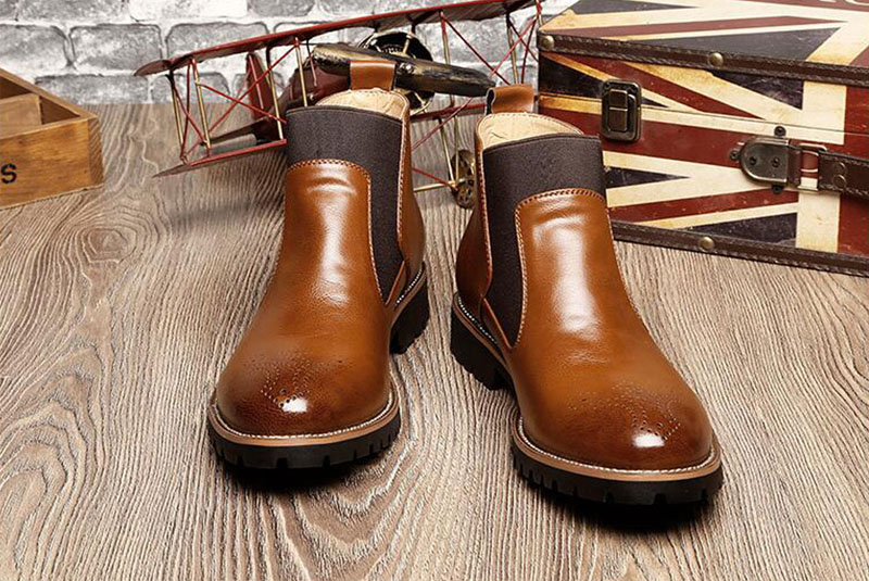 YIGER Men's Chelsea Boots 12