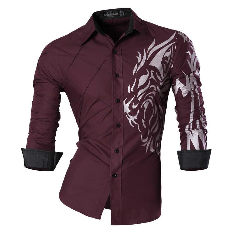 2019 весна осень особенности рубашки мужские повседневные джинсы рубашка новое поступление длинный рукав Повседневная приталенная Мужская рубашка Z030