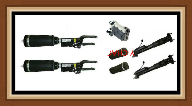1set Air Suspension Strut For MERCEDES Benz R Class W251 V251 Shock Absorber With ADS And Air Spring Bag And Air Compressor