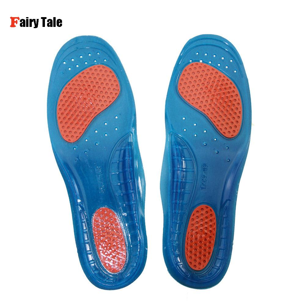 1 Pair Unisex Orthotic Arch Support Sport Shoe Pad Sport Running Gel Insoles Insert Cushion for Men Women Foot Care S/M/L ...