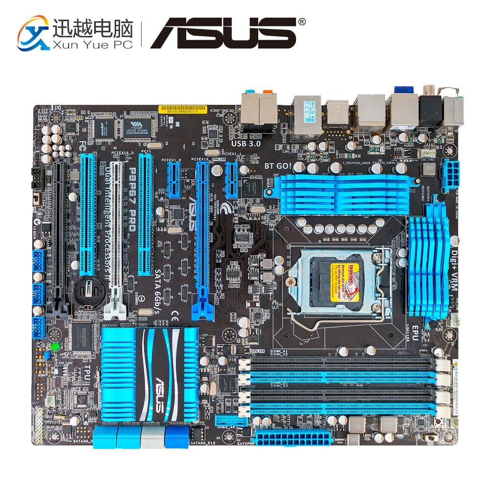Asus P8P67 PRO De Bureau Carte Mère P67 Socket LGA 1155 i3 i5 i7 DDR3 32g SATA3 USB3.0 ATX