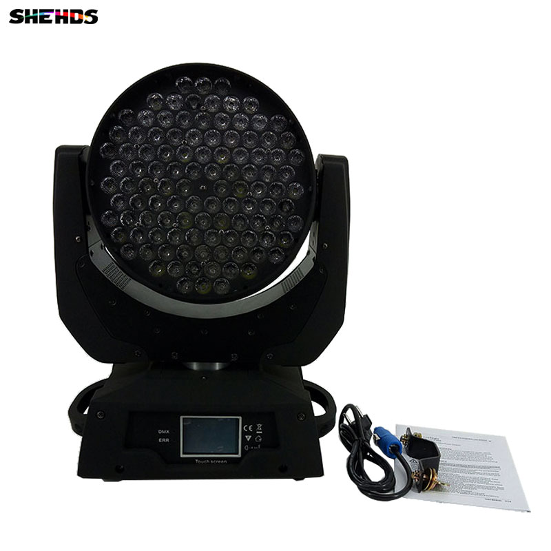 LED Wash Moving Head Light 108X3W RGBW LED Stage Lighting DJ Disco Lighting DMX Sound Professional Stage Light for Event/wedding fast shipping professional stage lighting led mini 18x3w wash moving head light for event disco party nightclub