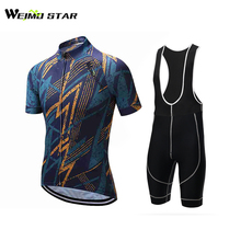 Cycling Jersey WEIMOSTAR Me Short Jersey Biking Summer Bicycle Clothes Wear GEL Breathable PadBib Shorts Suit