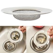 1pc 7cm Stainless Steel Mesh Sink Strainer Trap Bath Hair Drain Hole Metal Flume Filter Bathtub Wash Basin Sundries
