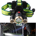 High Power Portable 3 LED Headlamps T6 + 2*R2 Head lamp Light 4 Modes for Bicycle Riding 6000 LumensLED Headlamp