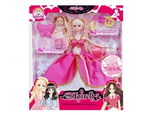 for Barbie Doll 30cm And A Baby Doll Dress Plus four Sets Of Dress Clothes Shoes Bags For bid doll Fashion Gift Top quality