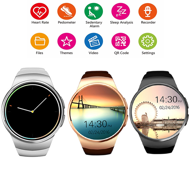 ФОТО Bluetooth KW18 Smart Watch Connected WristWatch for Samsung HTC Huawei LG Xiaomi Android Smartphones Support Sync Call Messager