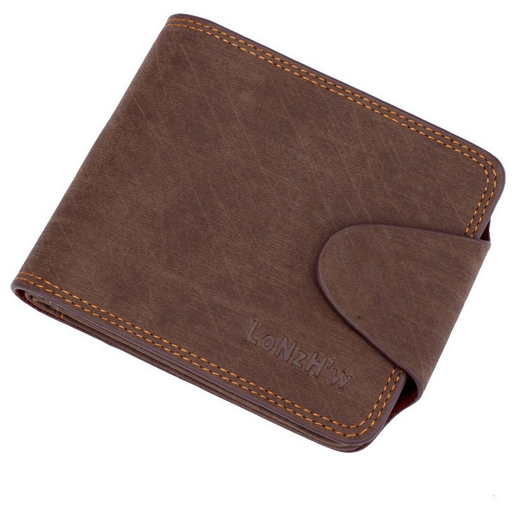 Men Wallets PU Leather Business Casual Style Coin Pouch Card & ID Holders Classic Wallet Solid Change Purse Male Packet retro style matte pu leather change coin wallet purse brownish red