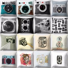 Hongbo 1 Pcs Vintage Camera Cushion Cover Retro Home Decor Throw Pillow Case Sofa Cushions Covers