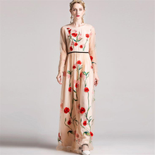 2ebdacd518820 Buy mesh black dress red flowers and get free shipping on AliExpress.com