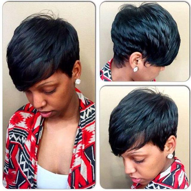 Virgin Brazilian Hair 27 Pieces Human Short Hair Weave With Free
