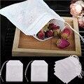 100 шт чайные пакеты пищевой пустой Ароматизированный Чай пакеты заварочные с струной заживления уплотнения фильтровальная бумага для трав...
