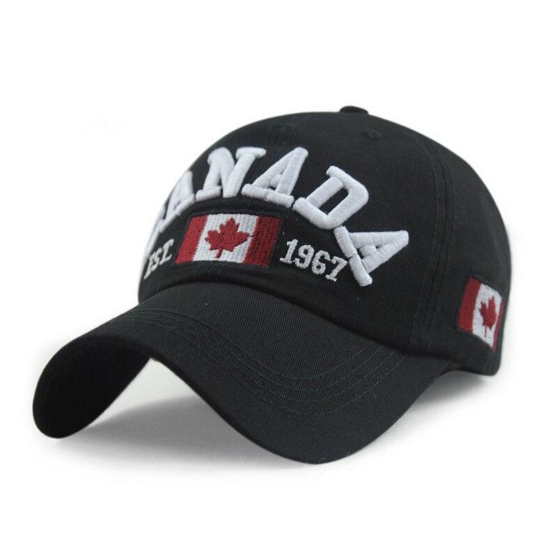 Canadá gorra de béisbol carta bandera canadiense primavera sombrero  canadiense favorito verano sombrero gorras de algodón 6 color 1 unids 1aa938842f6