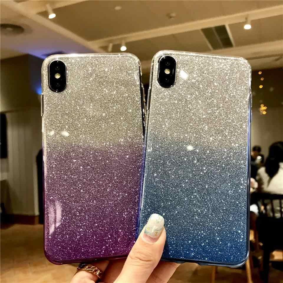 Rainbow Glitter 2 in 1 TPU Silicone Phone Case For iphone XS MAX XR Sony Xperia XA XA1 XA2 XP Ultra XC XZ1 XZ2 XZ Z5 C5 C6 Cover