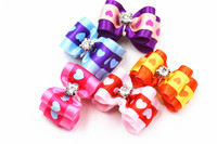 20 50 100pcs Set Dog Grooming Products Hair Accessories Pet Bows Hair Decorations Diamond Cute Pattern