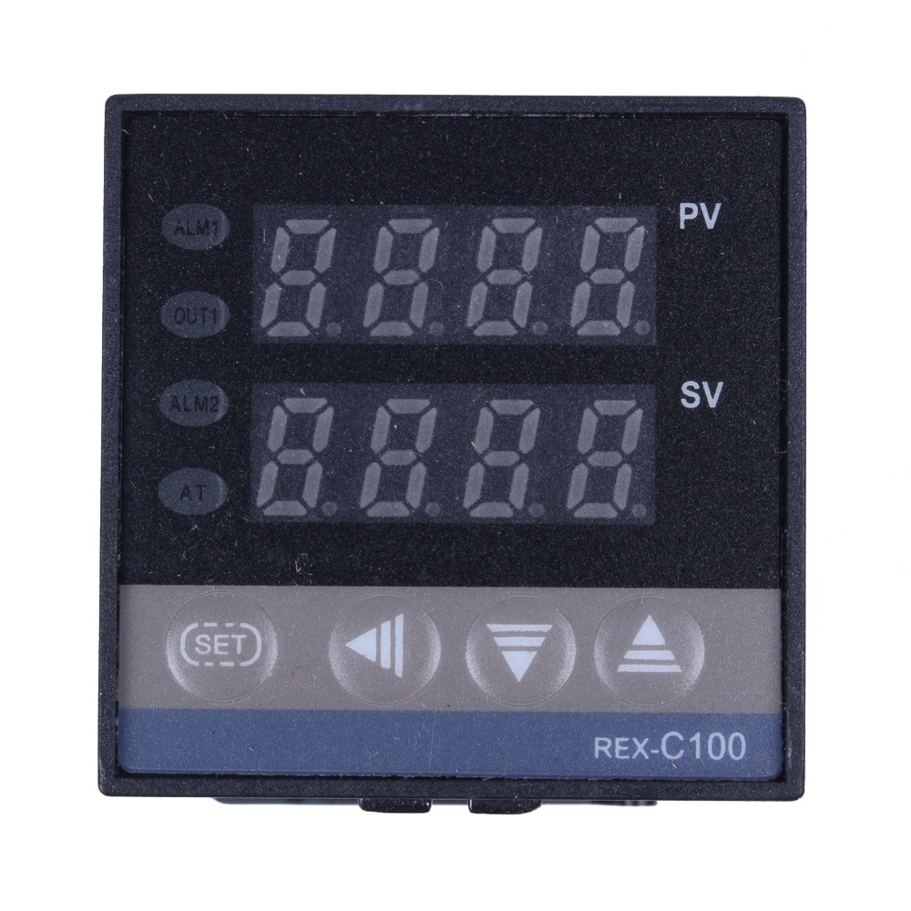 New Hot Digital 220V PID REX C100 Temperature Controller max 40A SSR K Thermocouple PID Controller Set Heat Sink in Temperature Instruments from Tools