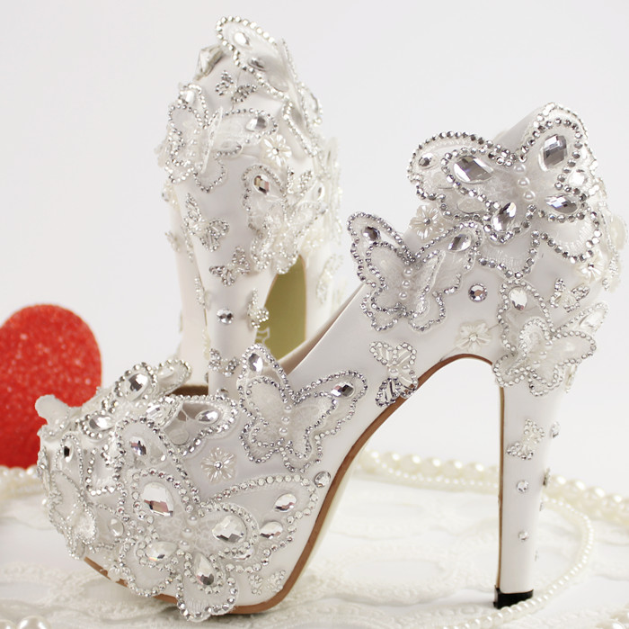 New aesthetic princess shoes lace bow bridal shoes sexy high-heeled fashion thin heels pumps handmade  plus size woman shoes