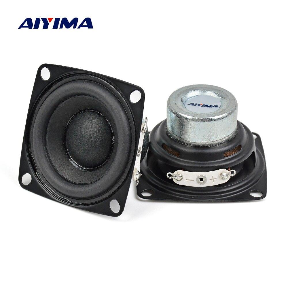 AIYIMA 2 stücke 2 zoll Vollständige Palette Lautsprecher 20 Core 4Ohm 10 watt Enthusiasten DIY Flache Arc Gummi Rand Neodym magnet HiFi Lautsprecher