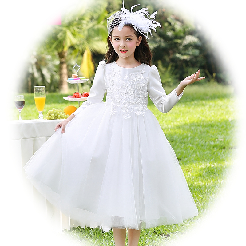 Baby Girl Long Sleeve Full Dress Ball Gown Flower Party Wedding Special Princess Kids Child Dresses For Girls Princess ClothesBaby Girl Long Sleeve Full Dress Ball Gown Flower Party Wedding Special Princess Kids Child Dresses For Girls Princess Clothes