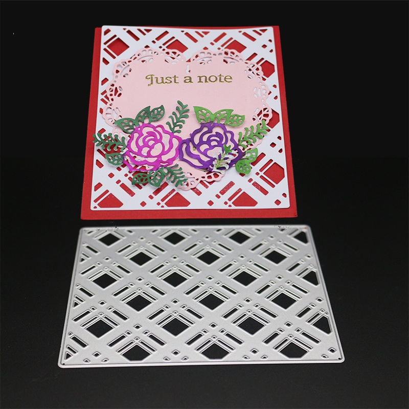 Metal Flower Border Cutting Dies Scrapbooking Embossing DIY Decorative Cards Cut Stencils