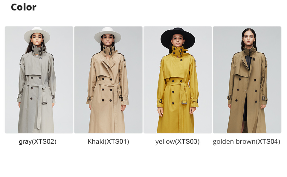 JAZZEVAR 19 New arrival autumn top trench coat women double breasted long outerwear for lady high quality overcoat women 9003 6