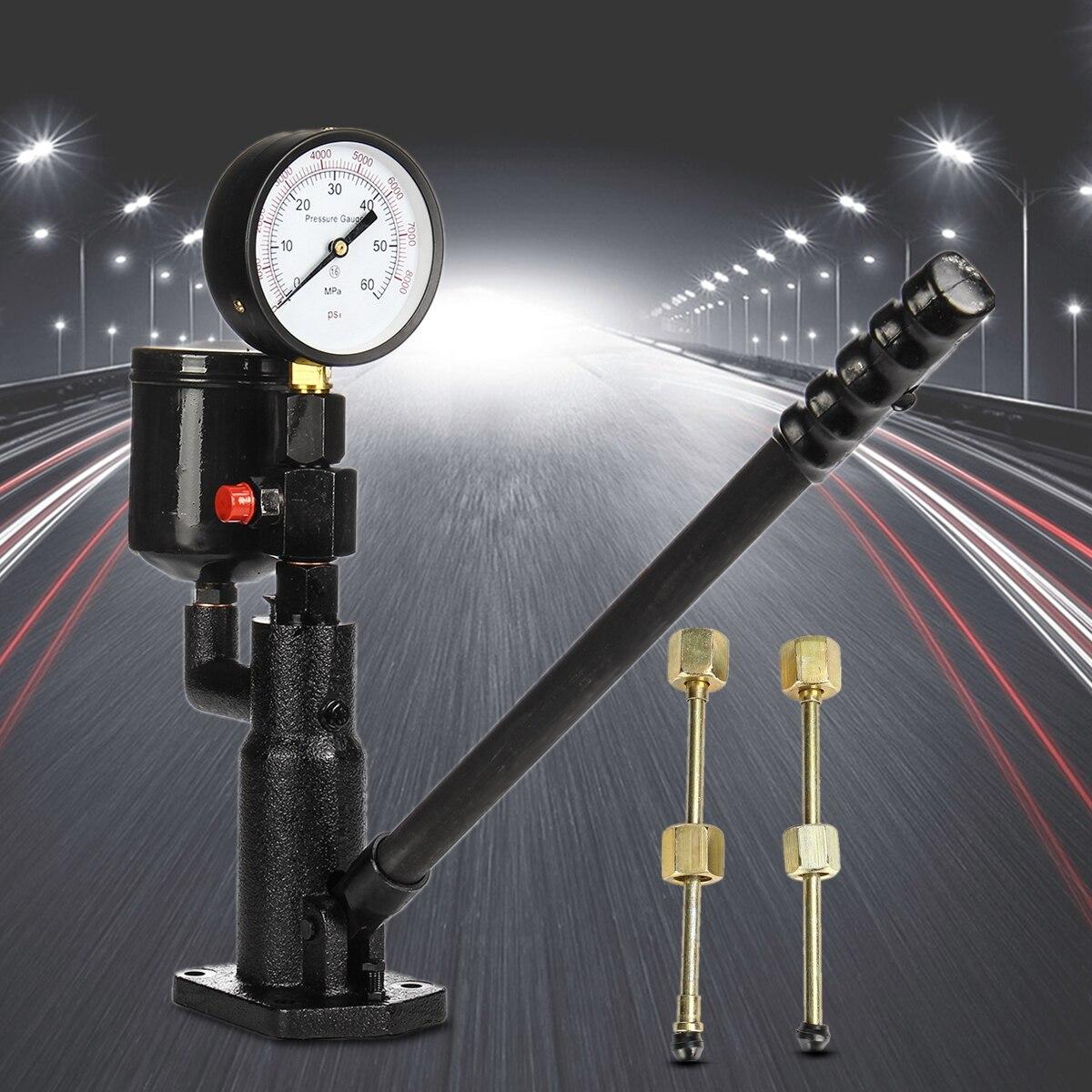 Бар/PSI 0-60Mpa сталь 1L Pop Дизель/инжектор сопла давление тестер Двойной весы читать Калибр Черный трубы высокого давления диагностический